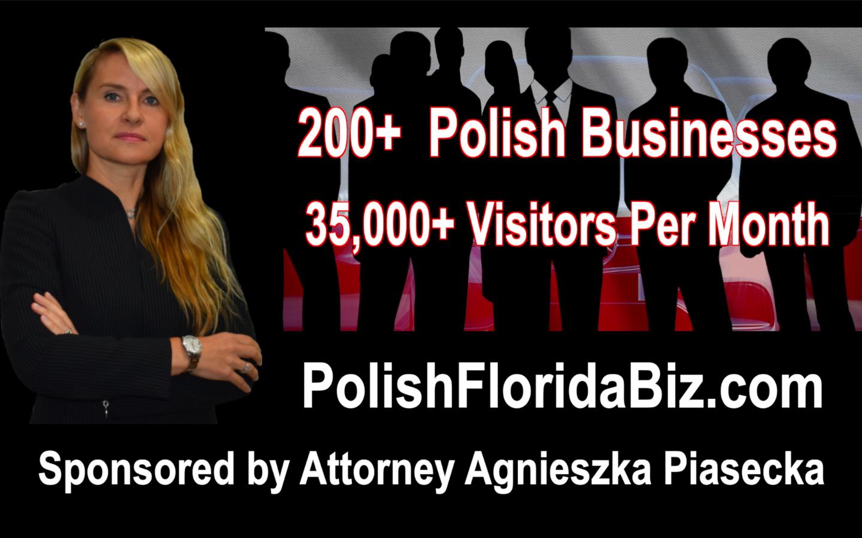 BEZPŁATNE polskie katalogi firm sponsorowane przez adwokata Agnieszkę Piasecką. FREE Polish Business Directories Sponsored by Attorney Agnieszka Aga Piasecka.
