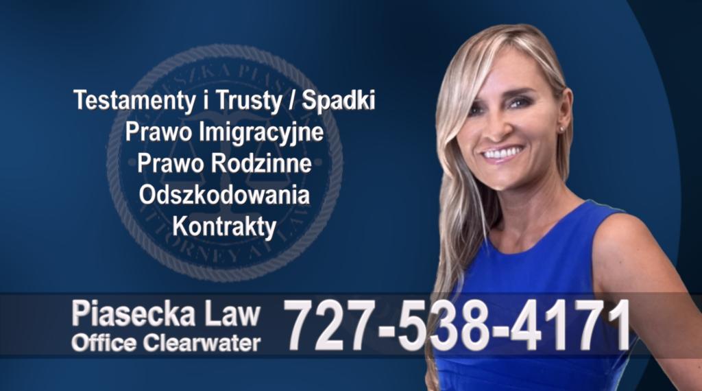 Largo, Florida, Polski, Prawnik, Adwokat, Floryda, USA, Polish, Attorney, Lawyer, Agnieszka Piasecka, Aga Piasecka, Piasecka Law, Piasecka